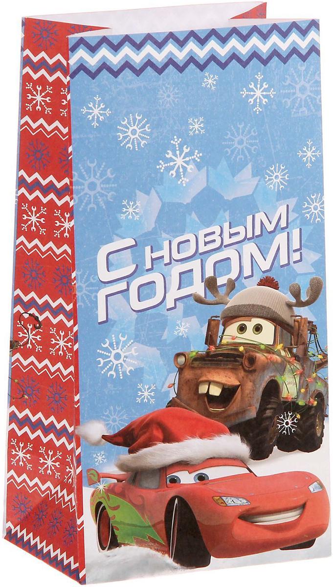 Пакет подарочный Disney Тачки. С Новым годом!, без ручек, 10 х 19,5 х 7 см1360553Подарочный пакет Disney Тачки. С Новым годом!, изготовленный из бумаги, станет незаменимым дополнением к выбранному подарку.Подарок, преподнесенный в оригинальной упаковке, всегда будет самым эффектным и запоминающимся. Окружите близких людей вниманием и заботой, вручив презент в нарядном, праздничном оформлении.