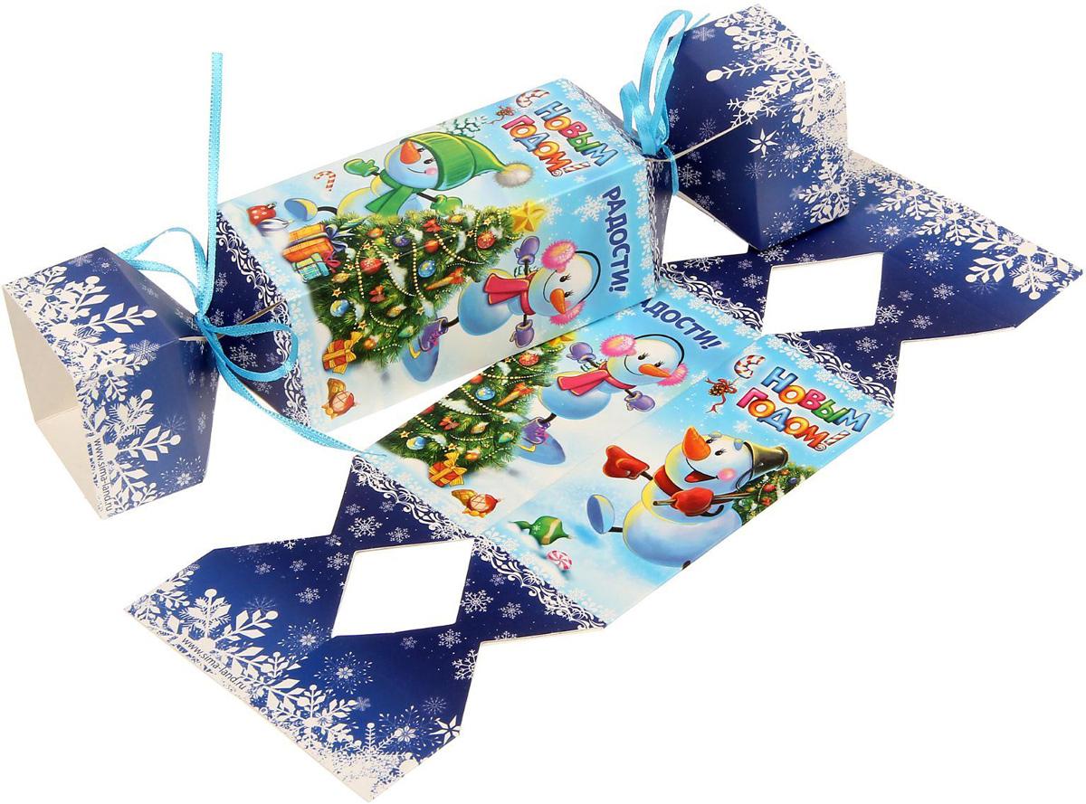 Коробка-конфета складная Sima-land Радости и счастья!, 11 х 5 см1363329Любой подарок начинается с упаковки. Что может быть трогательнее и волшебнее, чем ритуал разворачивания полученного презента. И именно оригинальная, со вкусом выбранная упаковка выделит ваш подарок из массы других. Подарочная складная коробка-конфета Sima-land продемонстрирует самые теплые чувства к виновнику торжества и создаст сказочную атмосферу праздника.