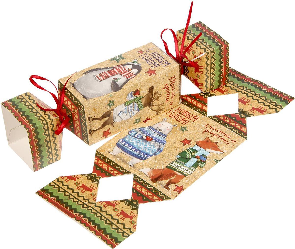 Складная коробка-конфета Sima-land Тепла и Уюта, 11 х 5 см1363334Сделанная своими руками оригинальная упаковка выделит презент из массы других, расскажет о ваших тёплых чувствах, наполнит праздник сказочной атмосферой. Благодаря нашему набору для творчества сделать её не составит труда! Следуйте инструкции, и вы легко создадите яркую, привлекающую внимание коробочку.