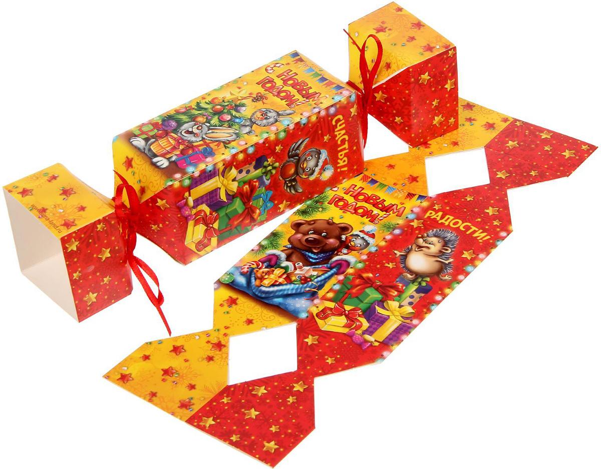 Коробка-конфета складная Sima-land Счастья!, 11 х 5 см1363335Любой подарок начинается с упаковки. Что может быть трогательнее и волшебнее, чем ритуал разворачивания полученного презента. И именно оригинальная, со вкусом выбранная упаковка выделит ваш подарок из массы других. Подарочная складная коробка-конфета Sima-land продемонстрирует самые теплые чувства к виновнику торжества и создаст сказочную атмосферу праздника.