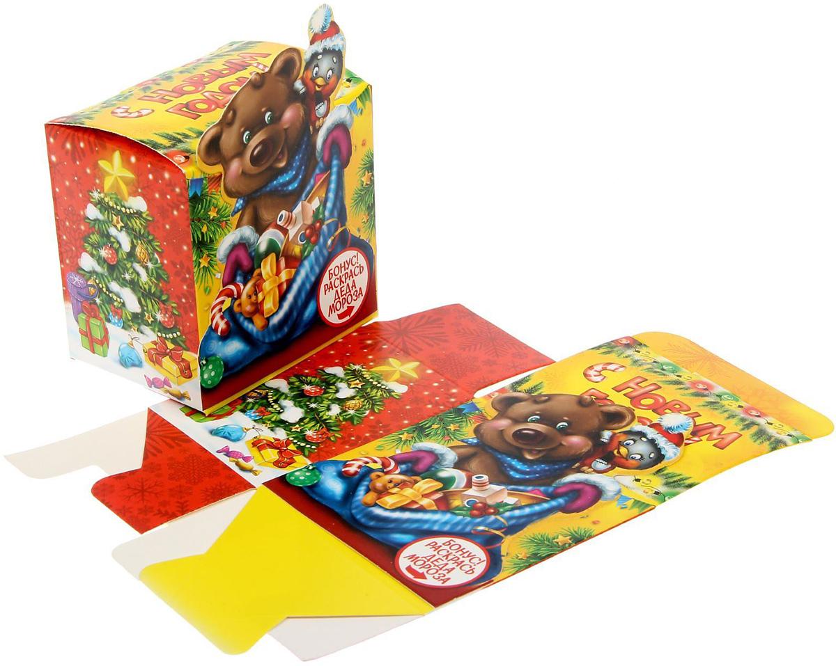 Коробка сборная фигурная Sima-land Новогодний сюрприз, 8 х 8 х 6 см свеча ароматизированная sima land лимон на подставке высота 6 см