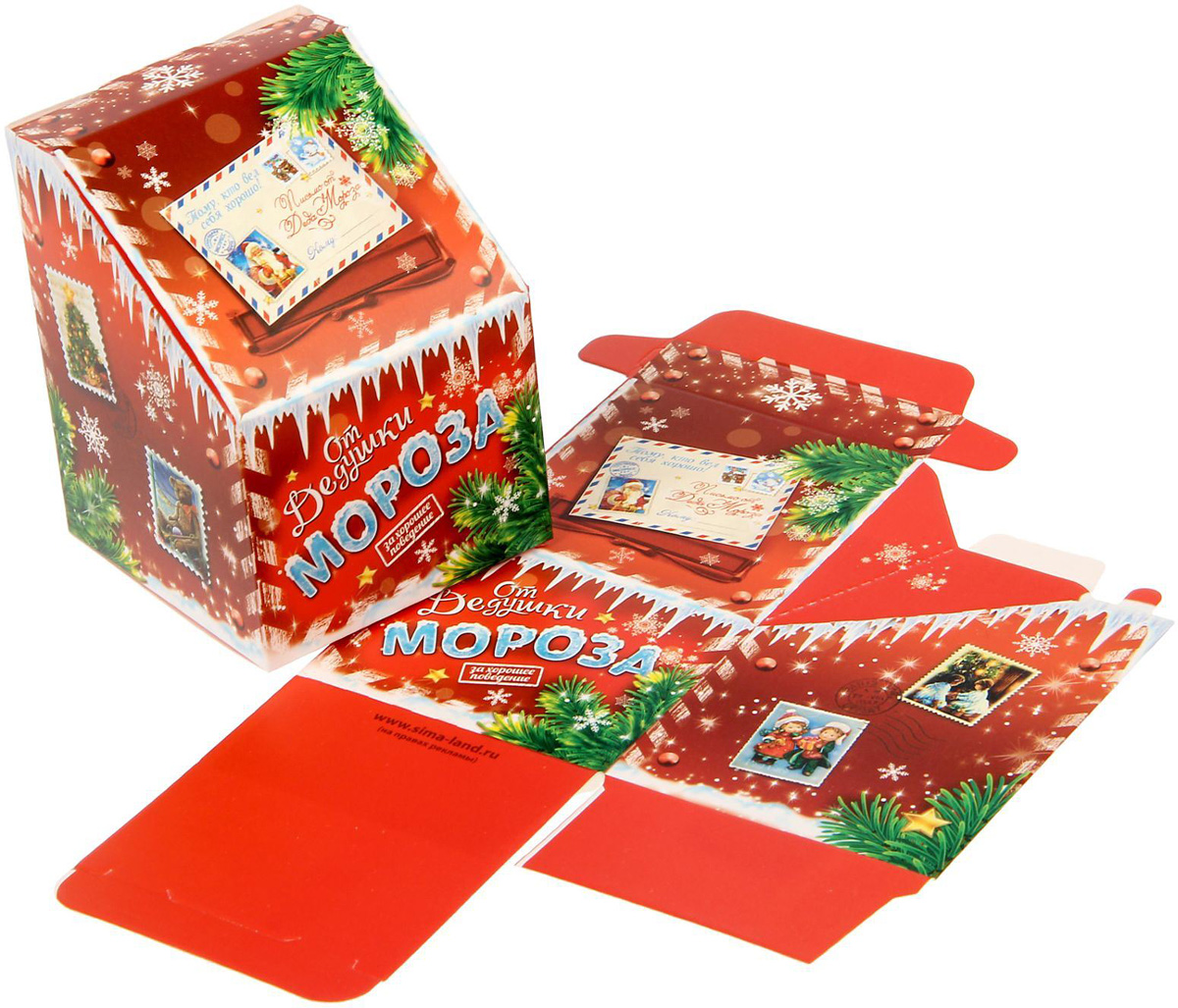 Коробка сборная фигурная Sima-land Новогодний экспресс, 7 х 9,5 х 7 см sima land свеча с мишкой с днем рождения 7 4 5 х 7 см 1003758