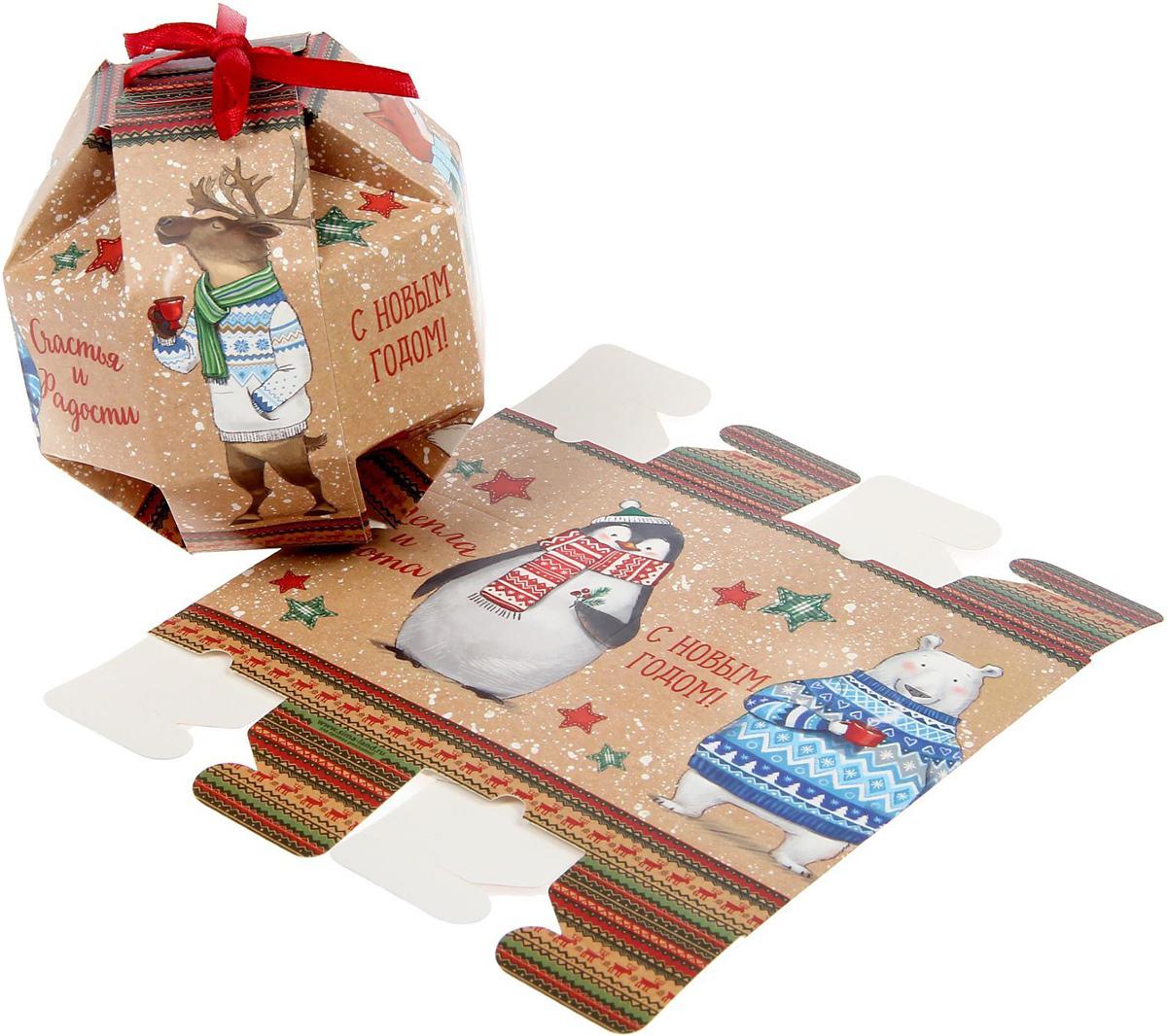 Коробка сборная фигурная Sima-land Снежные истории, 10 х 10 х 10 см1371666Любой подарок начинается с упаковки. Что может быть трогательнее и волшебнее, чем ритуал разворачивания полученного презента. И именно оригинальная, со вкусом выбранная упаковка выделит ваш подарок из массы других. Она продемонстрирует самые теплые чувства к виновнику торжества и создаст сказочную атмосферу праздника.