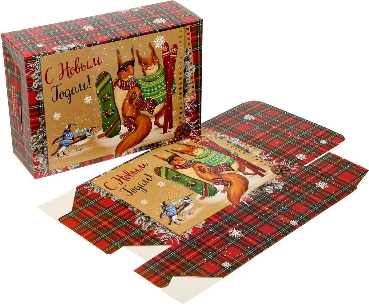 Коробка складная Sima-land Снежные истории, 16 х 23 х 7,5 см1383899Любой подарок начинается с упаковки. Что может быть трогательнее и волшебнее, чем ритуал разворачивания полученного презента. И именно оригинальная, со вкусом выбранная упаковка выделит ваш подарок из массы других. Подарочная коробка Sima-land продемонстрирует самые теплые чувства к виновнику торжества и создаст сказочную атмосферу праздника.