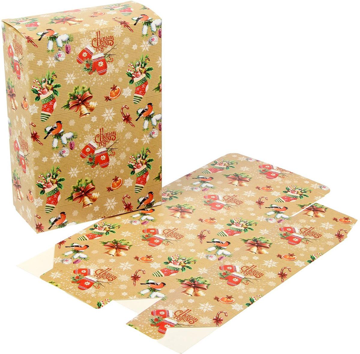 Коробка складная Sima-land Уютный новый год, 16 х 23 х 7,5 см1383904Любой подарок начинается с упаковки. Что может быть трогательнее и волшебнее, чем ритуал разворачивания полученного презента. И именно оригинальная, со вкусом выбранная упаковка выделит ваш подарок из массы других. Подарочная коробка Sima-land продемонстрирует самые теплые чувства к виновнику торжества и создаст сказочную атмосферу праздника.