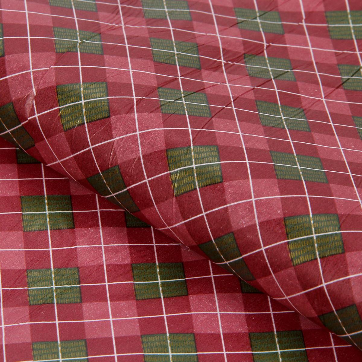 Бумага упаковочная Sima-land Клетка, тишью, 50 х 70 см1386358Бумага упаковочная Sima-land - это стильный и модный тренд в декоре и упаковке. Она универсальна в оформлении любой продукции и подарка и сделает даже обычный презент заметным, приятным и стильным.