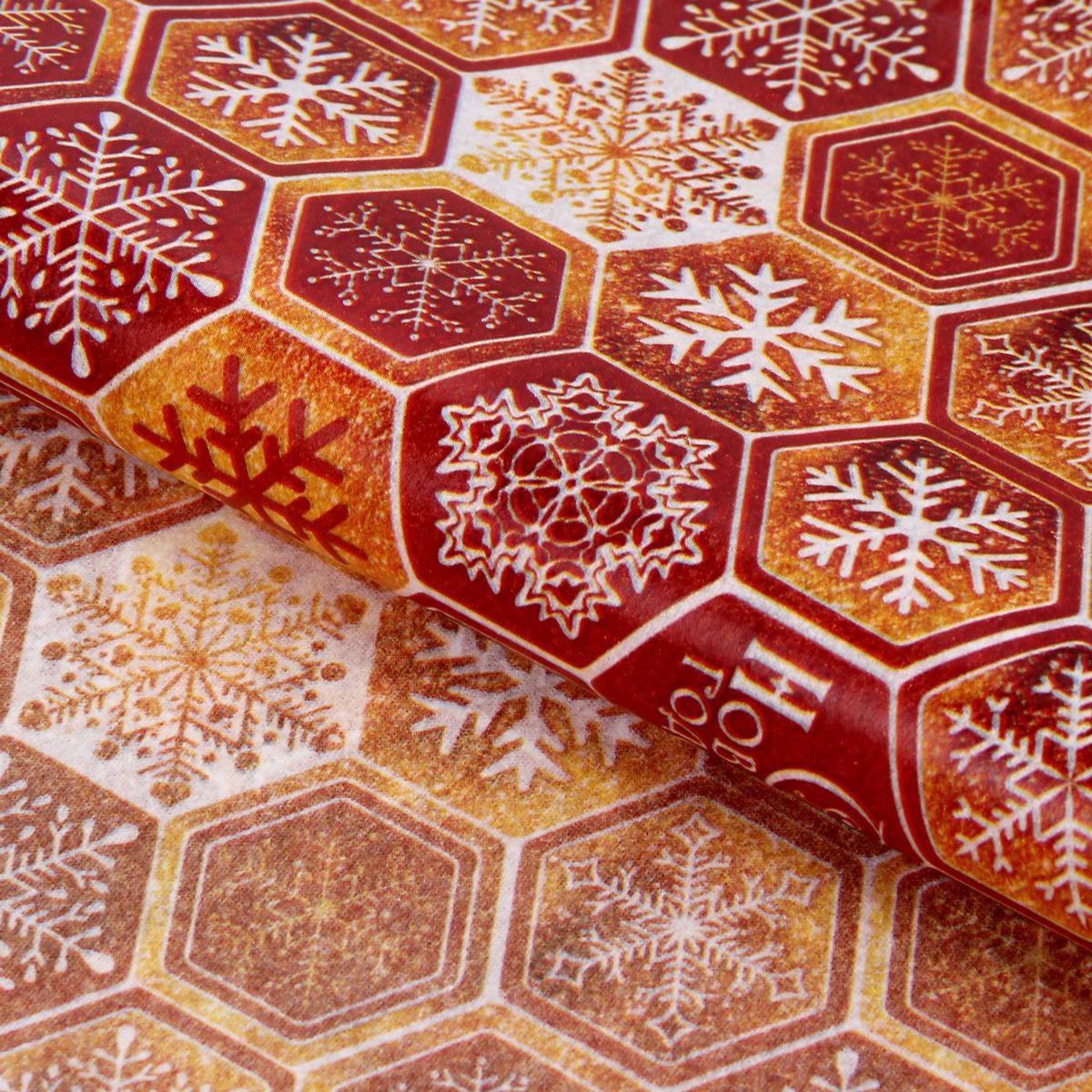 Бумага упаковочная Sima-land С Новым годом!, тишью, цвет: красный, 50 х 70 см1386366Бумага упаковочная Sima-land - это стильный и модный тренд в декоре и упаковке. Она универсальна в оформлении любой продукции и подарка и сделает даже обычный презент заметным, приятным и стильным.