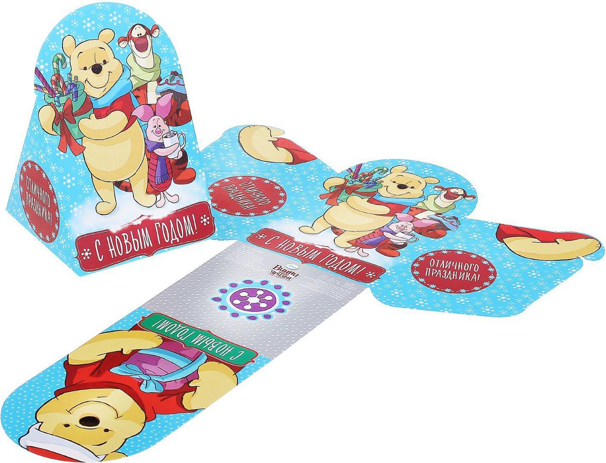 Коробка складная Disney Отличного праздника! Медвежонок Винни и его друзья, 8 х 9 х 8 см1398643Коробка складная Disney Отличного праздника! Медвежонок Винни и его друзья выполнена из картона. Любой подарок начинается с упаковки. Что может быть трогательнее и волшебнее, чем ритуал разворачивания полученного презента. И именно оригинальная, со вкусом выбранная упаковка выделит ваш подарок из массы других. Она продемонстрирует самые теплые чувства к виновнику торжества и создаст сказочную атмосферу праздника. Размер коробки в сложенном виде: 8 х 9 х 8 см.