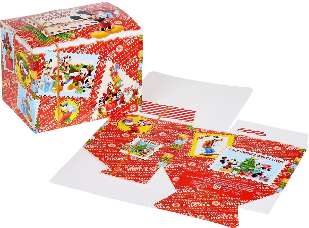 Коробка складная Disney Новогодняя посылка. Микки Маус и друзья, 20 х 15 х 14 см1398657Коробка складная Disney Новогодняя посылка. Микки Маус и друзья выполнена из картона. Любой подарок начинается с упаковки. Что может быть трогательнее и волшебнее, чем ритуал разворачивания полученного презента. И именно оригинальная, со вкусом выбранная упаковка выделит ваш подарок из массы других. Она продемонстрирует самые теплые чувства к виновнику торжества и создаст сказочную атмосферу праздника. Размер коробки в сложенном виде: 20 х 15 х 14 см.