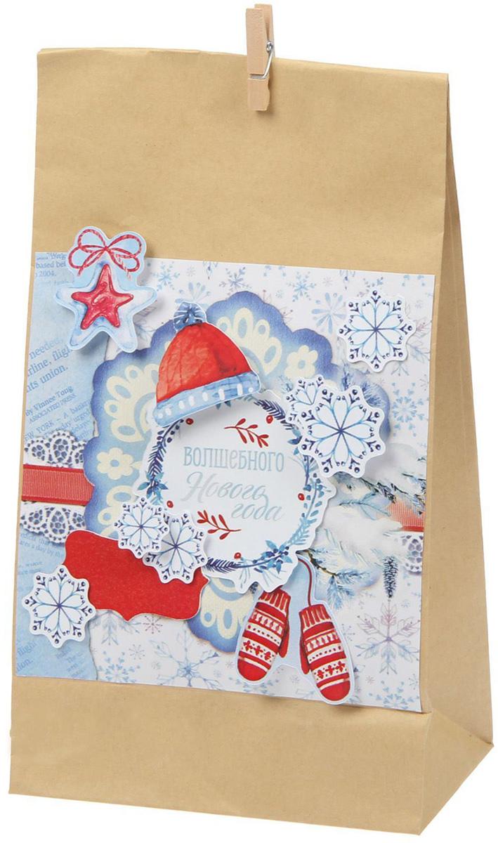 Набор по декорированию подарочного пакета Sima-land Сказки о зиме, 16 х 28 см1405257Набор для создания подарочного пакета своими руками порадует любителей всего стильного и красивого! На то, чтобы сделать оригинальную новогоднюю упаковку, вам понадобится всего несколько минут, ведь в комплекте уже есть всё, что нужно:пакет-основа;дизайнерская бумага;декор.Украсьте стильный крафтовый пакет-основу декором и дизайнерской бумагой, и ваш шедевр готов!