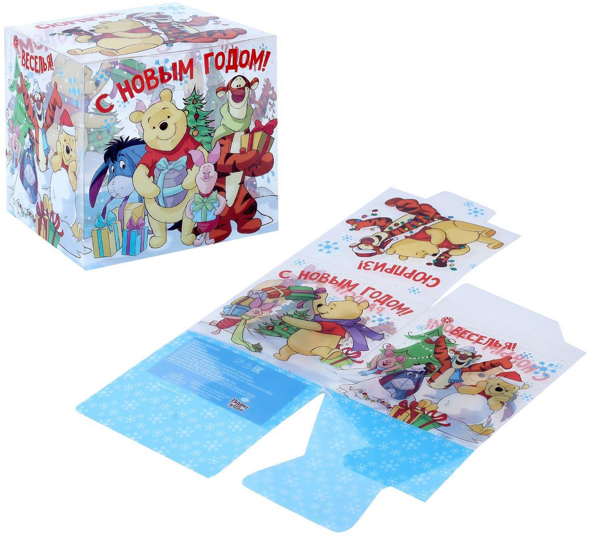 Коробка складная Disney Радости! Медвежонок Винни и его друзья, 15 х 15 х 15 см1426874Любой подарок начинается с упаковки. Что может быть трогательнее и волшебнее, чем ритуал разворачивания полученного презента. И именно оригинальная, со вкусом выбранная упаковка выделит ваш подарок из массы других. Она продемонстрирует самые теплые чувства к виновнику торжества и создаст сказочную атмосферу праздника.