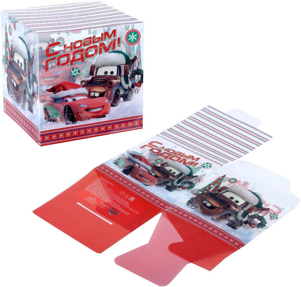 Коробка складная Disney С Новым Годом! Тачки, 15 х 15 х 15 см1426876Коробка складная Disney С Новым Годом! Тачки выполнена из пластика. Любой подарок начинается с упаковки. Что может быть трогательнее и волшебнее, чем ритуал разворачивания полученного презента. И именно оригинальная, со вкусом выбранная упаковка выделит ваш подарок из массы других. Она продемонстрирует самые теплые чувства к виновнику торжества и создаст сказочную атмосферу праздника. Размер коробки в сложенном виде: 15 х 15 х 15 см.