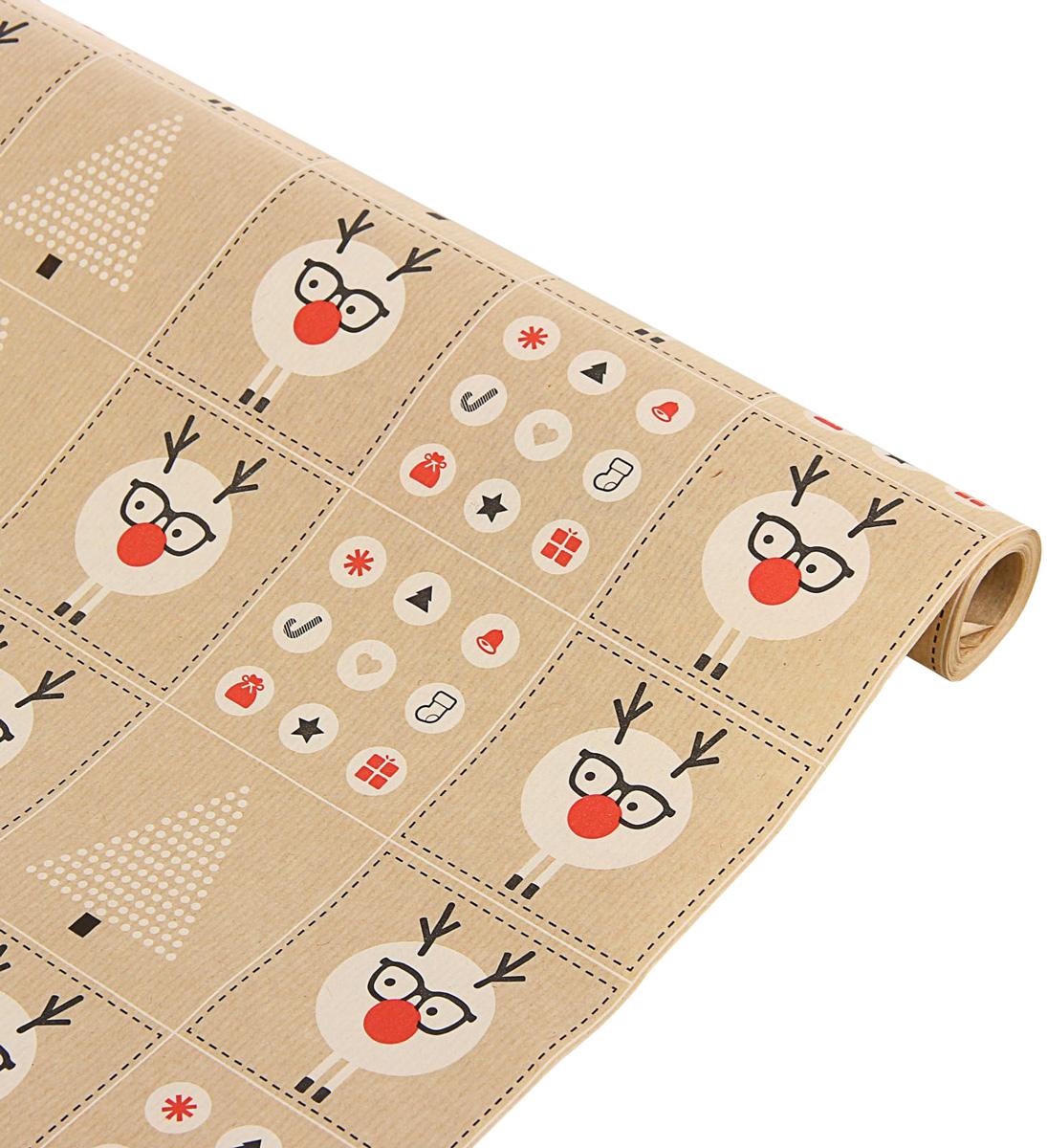 Бумага упаковочная Sima-land Снежные приключения, крафт, 70 х 100 см1589637Это стильный и модный тренд в декоре и упаковке. Она универсальна в оформлении любой продукции и подарка и сделает даже обычный презент заметным, приятным и стильным.