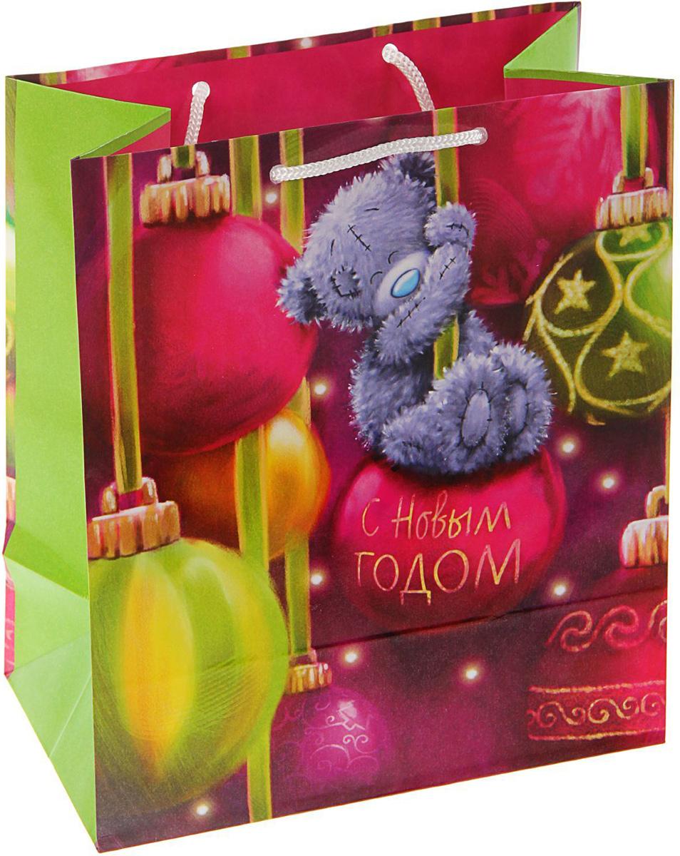 Пакет подарочный Me to you Мишка на шаре, 24 х 20,3 х 11,5 см1606149Подарочный пакет Me to you, изготовленный из плотной бумаги, станет незаменимым дополнением к выбранному подарку. Для удобной переноски на пакете имеются две ручки из шнурков.Подарок, преподнесенный в оригинальной упаковке, всегда будет самым эффектным и запоминающимся. Окружите близких людей вниманием и заботой, вручив презент в нарядном, праздничном оформлении.