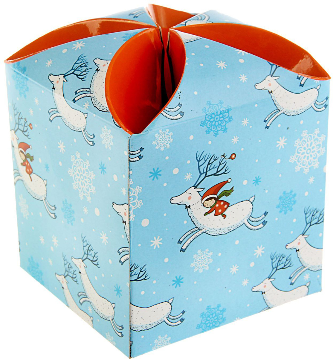Коробка подарочная Sima-land Новогодний сон, сборная, 9 х 9 х 9,5 см1689942Любой подарок начинается с упаковки. Что может быть трогательнее и волшебнее, чем ритуал разворачивания полученного презента. И именно оригинальная, со вкусом выбранная упаковка выделит ваш подарок из массы других. Подарочная сборная коробка Sima-land продемонстрирует самые теплые чувства к виновнику торжества и создаст сказочную атмосферу праздника.