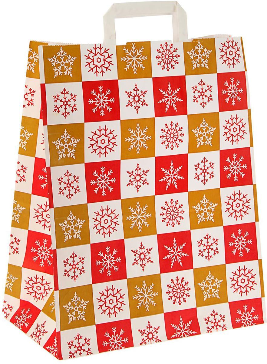 Пакет подарочный Sima-land Новогодние краски, 39 х 32 х 17 см1712980Подарочный пакет Sima-land, изготовленный из крафтовой бумаги, станет незаменимым дополнением к выбранному подарку. Для удобной переноски имеются две плоские ручки.Подарок, преподнесенный в оригинальной упаковке, всегда будет самым эффектным и запоминающимся. Окружите близких людей вниманием и заботой, вручив презент в нарядном, праздничном оформлении.