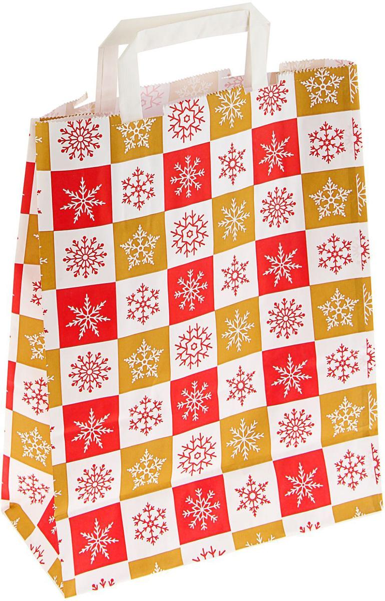 Пакет подарочный Sima-land Новогодние краски, крафт, с кручеными ручками, 32 х 25 х 11 см1780992Сделанная своими руками оригинальная упаковка выделит презент из массы других, расскажет о ваших тёплых чувствах, наполнит праздник сказочной атмосферой. Благодаря нашему набору для творчества сделать её не составит труда! Следуйте инструкции, и вы легко создадите яркую, привлекающую внимание коробочку.