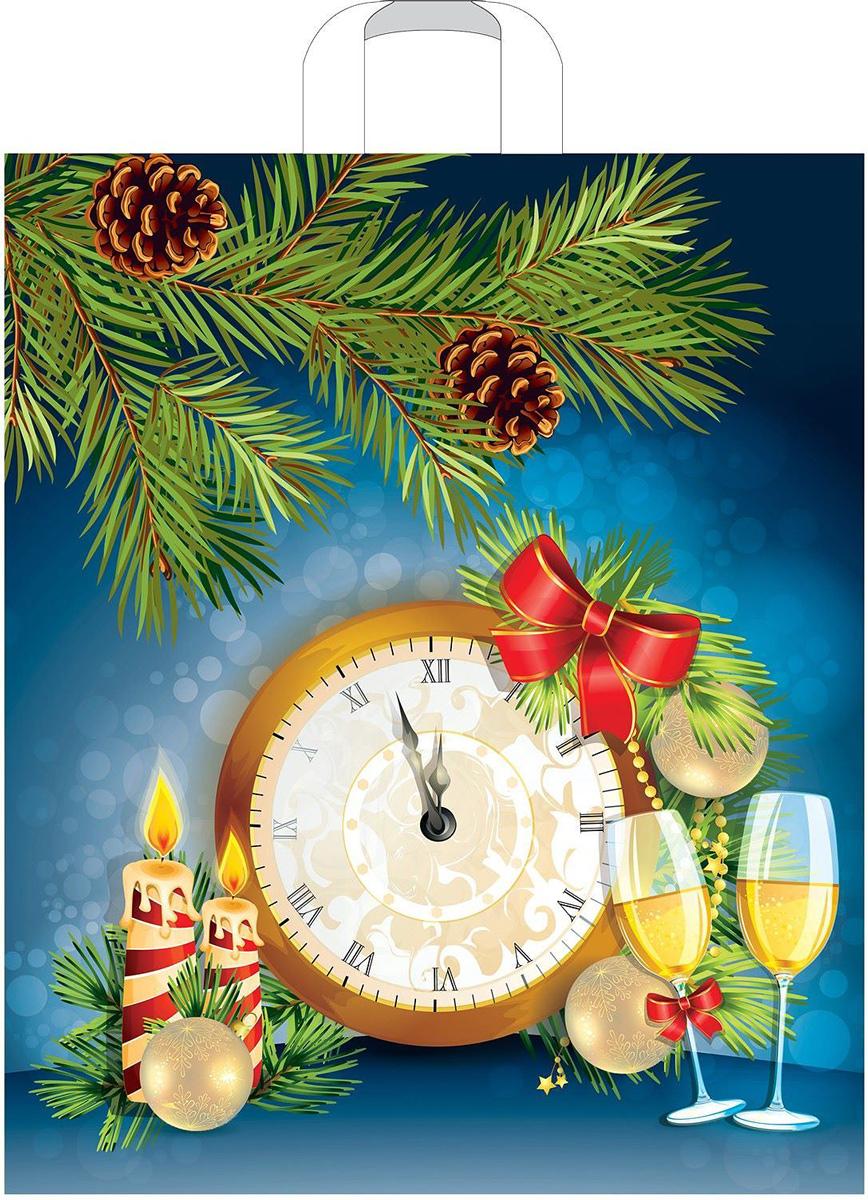 Пакет подарочный Артпласт Новогодние часы, 45 х 38, 60 мкм1782840Подарочный пакет, изготовленный из ПВД, станет незаменимым дополнением к выбранному подарку. Дно изделия укреплено плотнымкартоном, который позволяет сохранить форму пакета и исключает возможность деформации дна под тяжестью подарка.