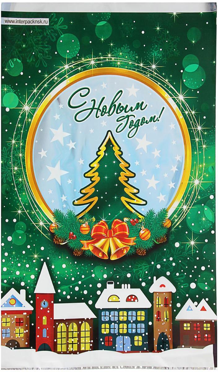 Пакет подарочный Интерпак Зимний городок, 40 х 25 см зимний пакет для кондиционера