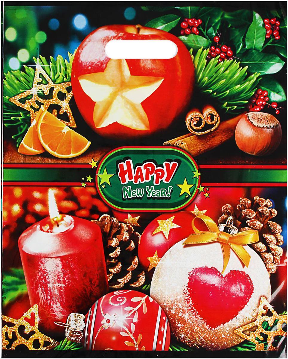 Пакет подарочный Интерпак Сочельник, полиэтиленовый, с вырубной ручкой, 47 х 38 см1793207Подарочный пакет с новогодним рисунком идеальная упаковка для подарка.