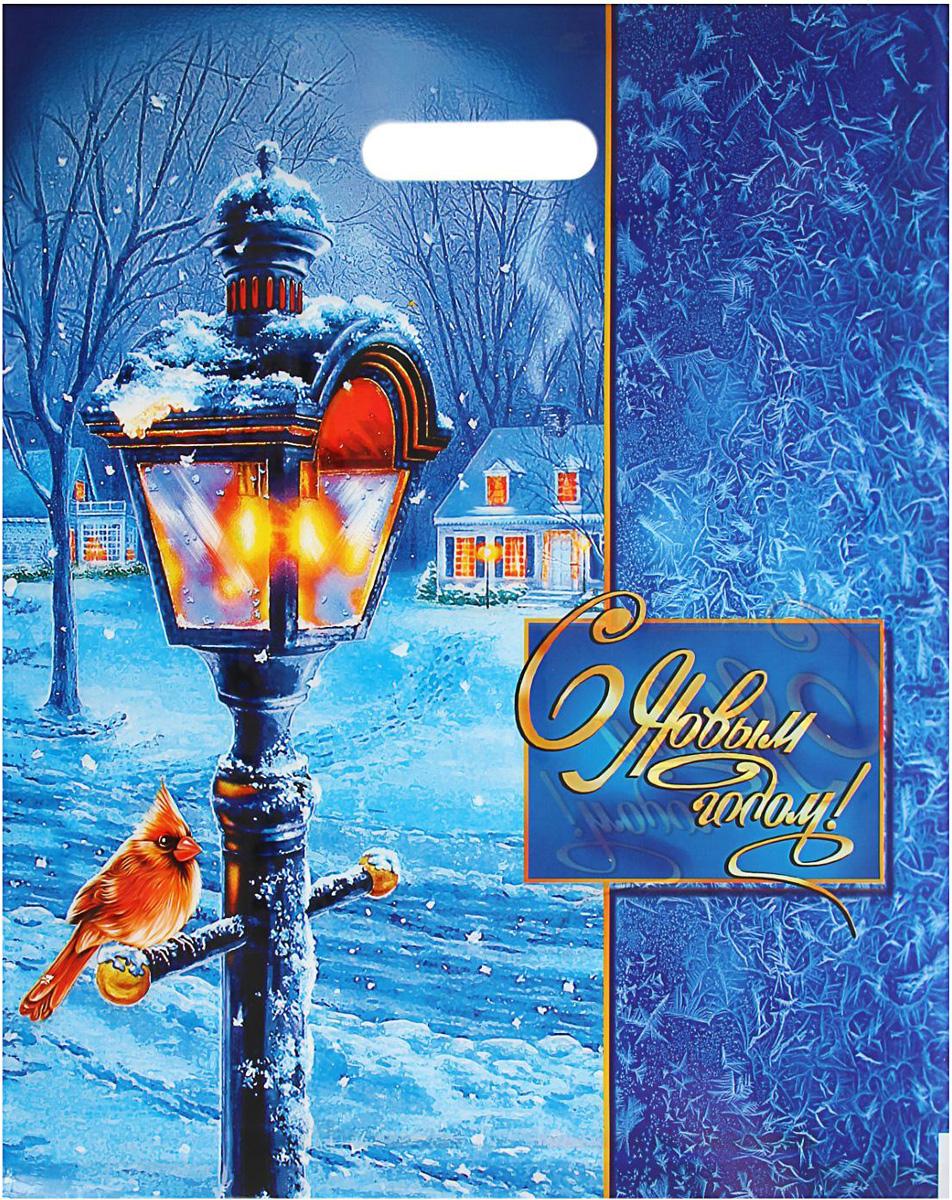 Пакет подарочный Интерпак Зимний вечер, 47 х 38 см, 60 мкм1793209Подарочный пакет с новогодним рисунком идеальная упаковка для подарка.