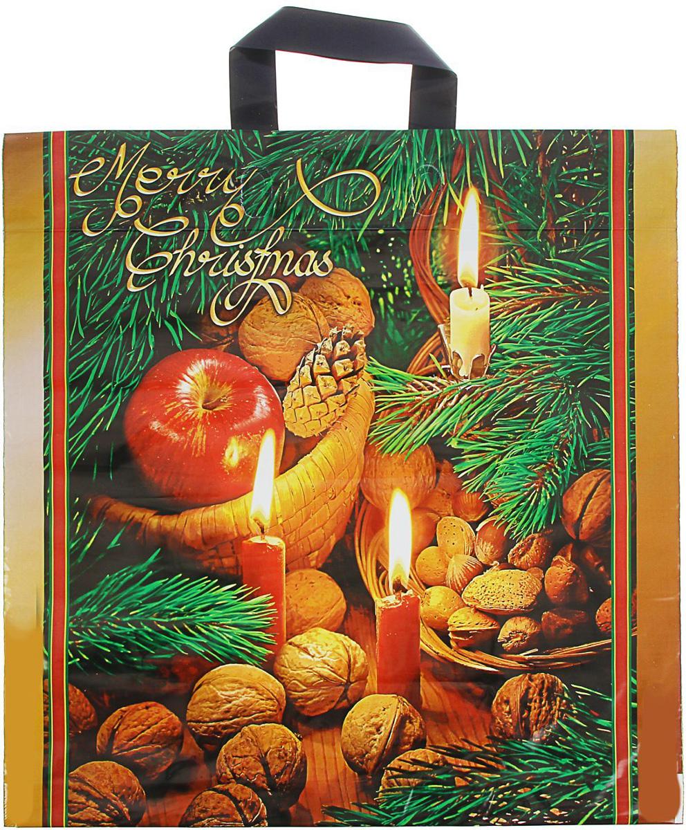 Пакет подарочный Интерпак Новогодняя пора, 44 х 44 см, 70 мкм1793221Подарочный пакет с новогодним рисунком идеальная упаковка для подарка.