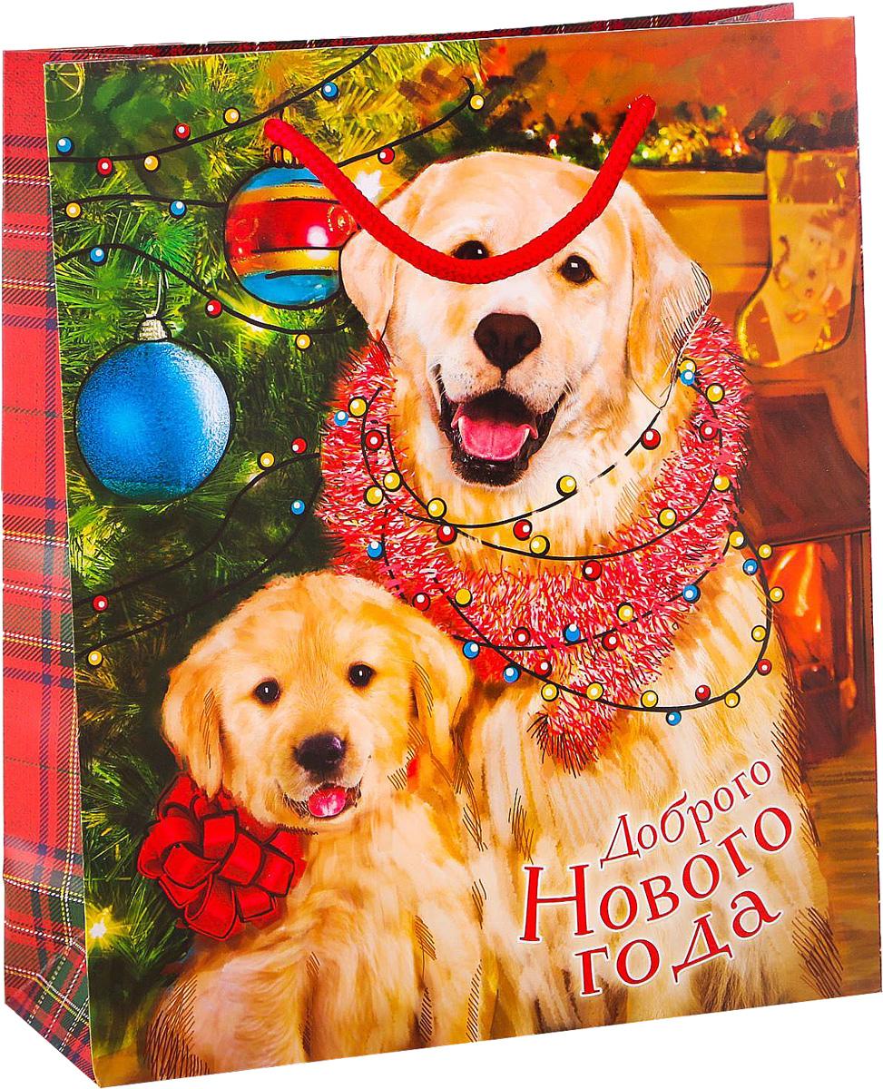 Пакет подарочный Дарите Счастье Доброго Нового года!, вертикальный, 23 х 27 х 8 см2113745Привлекательная упаковка послужит достойным украшением любого, даже самого скромного подарка. Она поможет создать интригу и продлить время предвкушения чуда - момента, когда презент окажется в руках адресата.Подарочный пакет Дарите Счастье Доброго Нового года имеет яркий, оригинальный дизайн, который обязательно понравится получателю! Изделие выполнено из плотной бумаги, благодаря чему обеспечит надёжную защиту содержимого. Размер: 23 х 27 х 8 см.