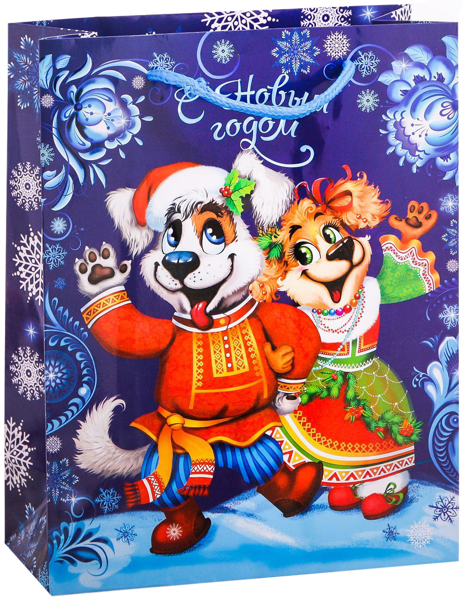 Пакет подарочный Дарите Счастье Русский Новый год, вертикальный, 18 х 23 х 8 см2113767Привлекательная упаковка послужит достойным украшением любого, даже самого скромного подарка. Она поможет создать интригу и продлить время предвкушения чуда - момента, когда презент окажется в руках адресата. Подарочный пакет Дарите Счастье Русский Новый год имеет яркий, оригинальный дизайн, который обязательно понравится получателю! Изделие выполнено из плотной бумаги, благодаря чему обеспечит надёжную защиту содержимого.Размер: 18 х 23 х 8 см.