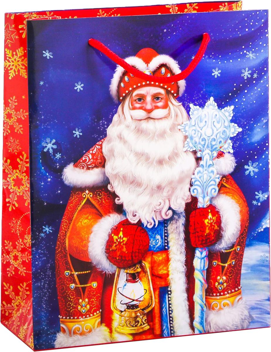 Пакет подарочный Дарите Счастье Дед Мороз, вертикальный, 18 х 23 х 8 см2113784Сделанная своими руками оригинальная упаковка выделит презент из массы других, расскажет о ваших тёплых чувствах, наполнит праздник сказочной атмосферой. Благодаря нашему набору для творчества сделать её не составит труда! Следуйте инструкции, и вы легко создадите яркую, привлекающую внимание коробочку.
