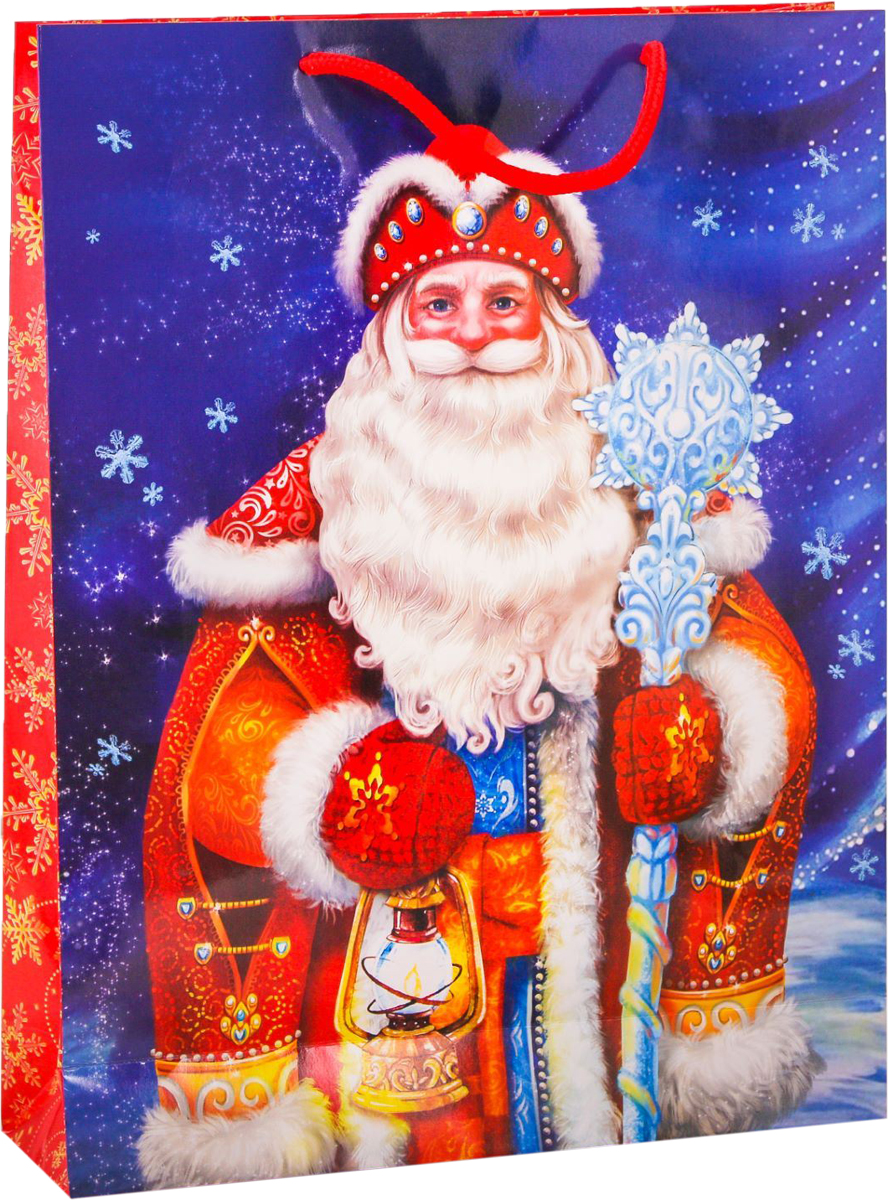 Пакет подарочный Дарите Счастье Дед Мороз, вертикальный, 31 х 40 х 9 см2113786Привлекательная упаковка послужит достойным украшением любого, даже самого скромного подарка. Она поможет создать интригу и продлить время предвкушения чуда - момента, когда презент окажется в руках адресата.Подарочный пакет Дарите Счастье Дед Мороз имеет яркий, оригинальный дизайн, который обязательно понравится получателю! Изделие выполнено из плотной бумаги, благодаря чему обеспечит надёжную защиту содержимого. Размер: 31 х 40 х 9 см.