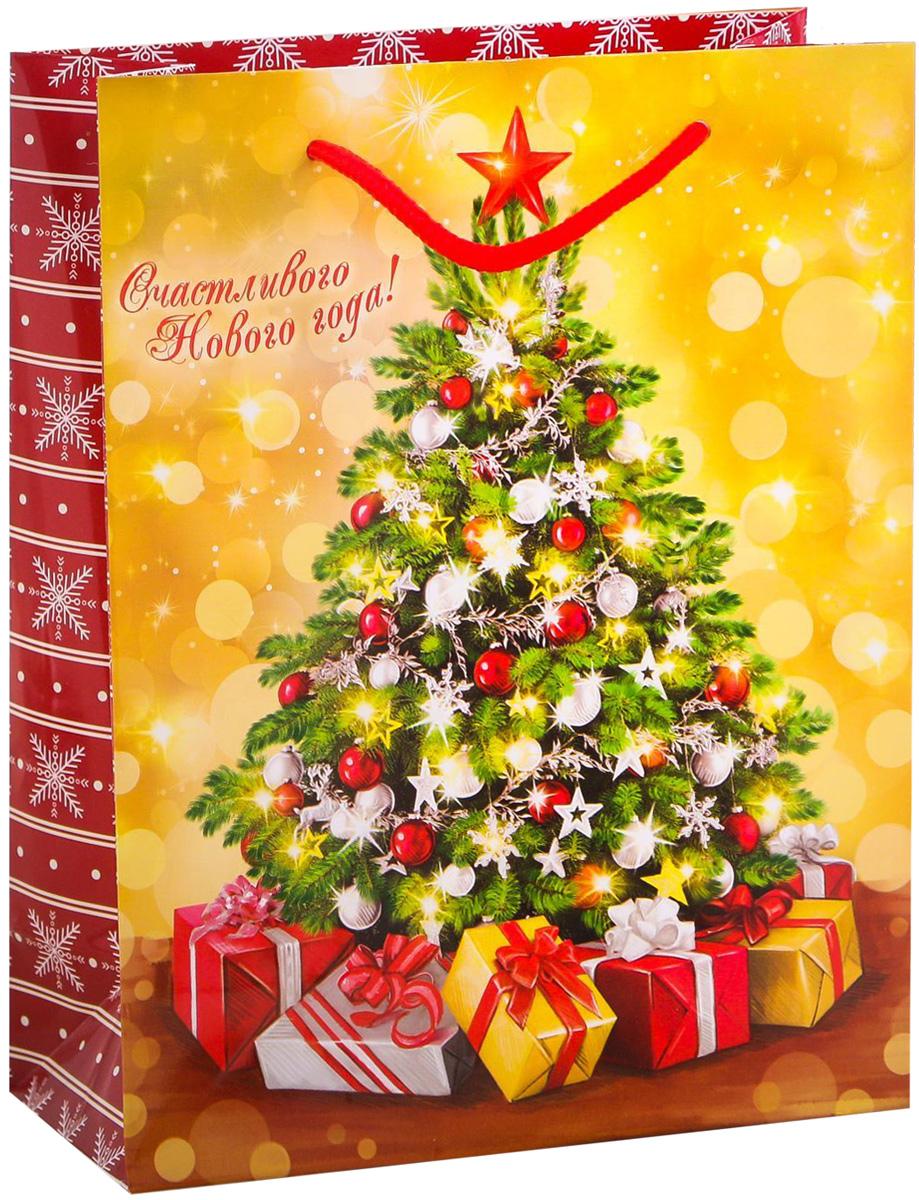 Пакет подарочный Дарите Счастье Ёлочка, гори!, вертикальный, 18 х 23 х 8 см2113811Привлекательная упаковка послужит достойным украшением любого, даже самого скромного подарка. Она поможет создать интригу и продлить время предвкушения чуда - момента, когда презент окажется в руках адресата. Подарочный пакет Дарите Счастье Ёлочка, гори! имеет яркий, оригинальный дизайн, который обязательно понравится получателю! Изделие выполнено из плотной бумаги, благодаря чему обеспечит надёжную защиту содержимого.Размер: 18 х 23 х 8 см.