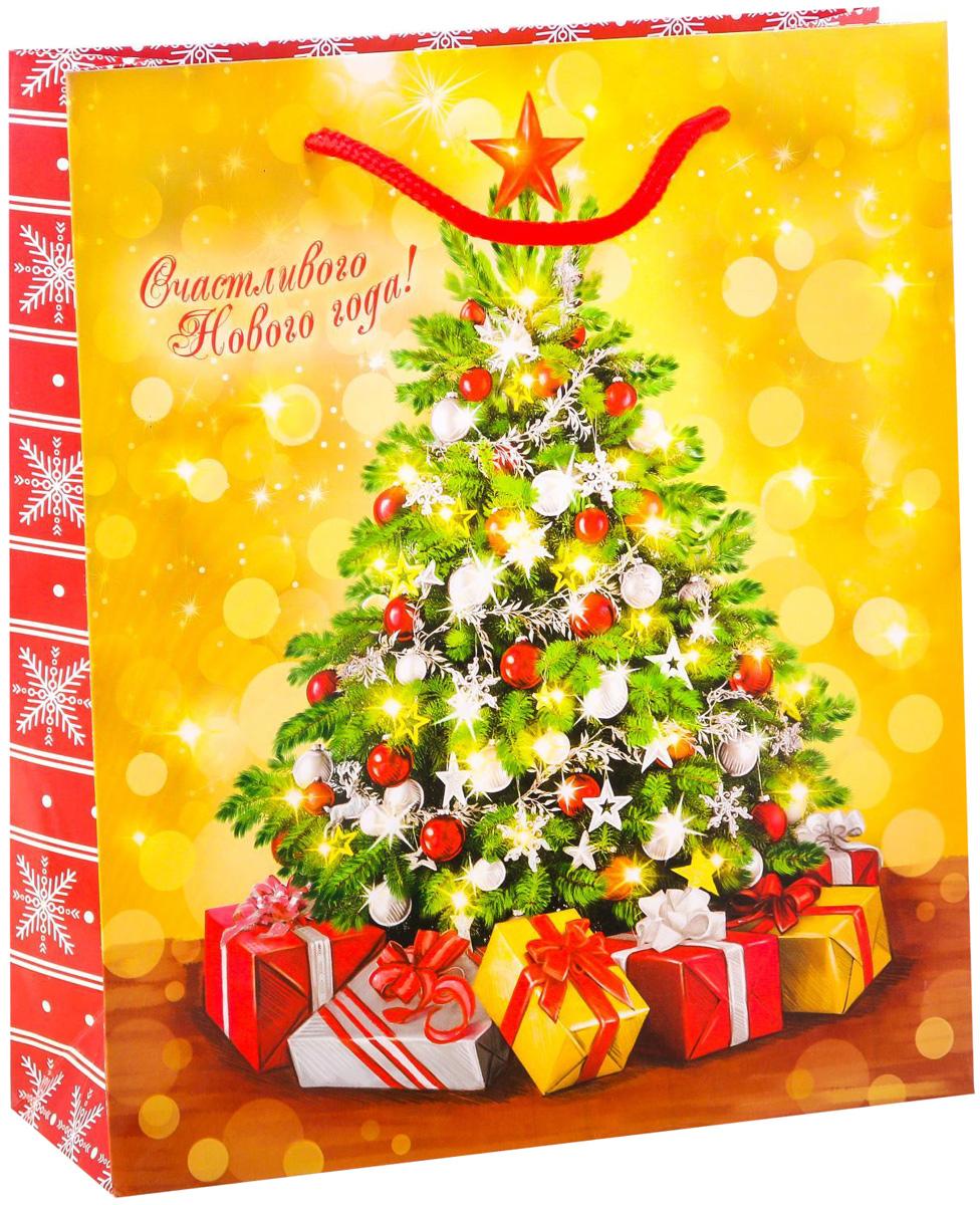 Пакет подарочный Дарите Счастье Ёлочка, гори!, вертикальный, 23 х 27 х 8 см2113812Привлекательная упаковка послужит достойным украшением любого, даже самого скромного подарка. Она поможет создать интригу и продлить время предвкушения чуда - момента, когда презент окажется в руках адресата.Подарочный пакет Дарите Счастье Ёлочка, гори! имеет яркий, оригинальный дизайн, который обязательно понравится получателю! Изделие выполнено из плотной бумаги, благодаря чему обеспечит надёжную защиту содержимого. Размер: 23 х 27 х 8 см.