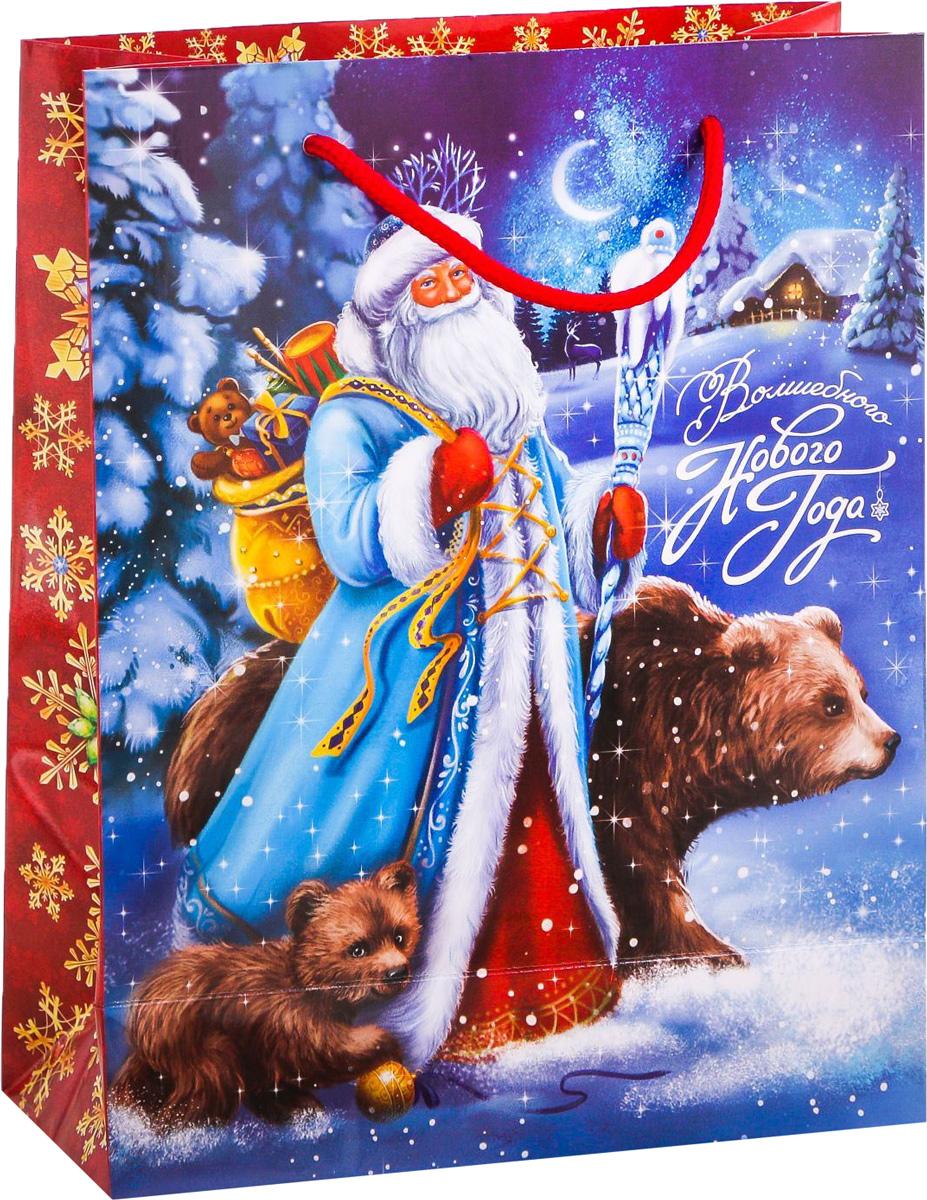 Пакет подарочный Дарите Счастье Зимнее волшебство, вертикальный, 18 х 23 х 8 см2113816Привлекательная упаковка послужит достойным украшением любого, даже самого скромного подарка. Она поможет создать интригу и продлить время предвкушения чуда - момента, когда презент окажется в руках адресата. Подарочный пакет Дарите Счастье Зимнее волшебство имеет яркий, оригинальный дизайн, который обязательно понравится получателю! Изделие выполнено из плотной бумаги, благодаря чему обеспечит надёжную защиту содержимого.Размер: 18 х 23 х 8 см.
