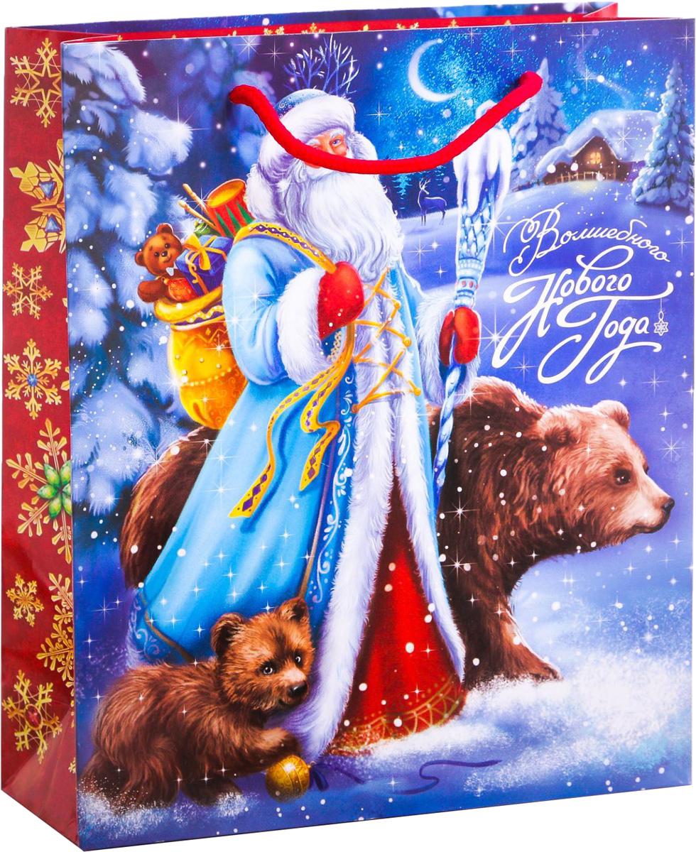 Пакет подарочный Дарите Счастье Зимнее волшебство, вертикальный, 23 х 27 х 8 см2113817Привлекательная упаковка послужит достойным украшением любого, даже самого скромного подарка. Она поможет создать интригу и продлить время предвкушения чуда - момента, когда презент окажется в руках адресата. Подарочный пакет Дарите Счастье Зимнее волшебство имеет яркий, оригинальный дизайн, который обязательно понравится получателю! Изделие выполнено из плотной бумаги, благодаря чему обеспечит надёжную защиту содержимого.Размер: 23 х 27 х 8 см.