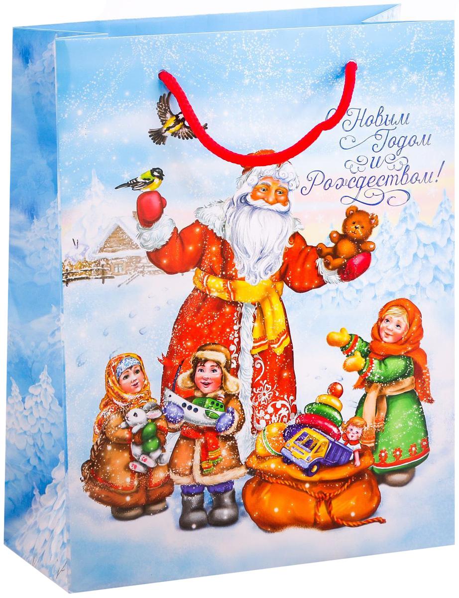 Пакет подарочный Дарите Счастье Долгожданные подарки, вертикальный, 18 х 23 х 8 см2113820Привлекательная упаковка послужит достойным украшением любого, даже самого скромного подарка. Она поможет создать интригу и продлить время предвкушения чуда - момента, когда презент окажется в руках адресата.Подарочный пакет Дарите Счастье Долгожданные подарки имеет яркий, оригинальный дизайн, который обязательно понравится получателю! Изделие выполнено из плотной бумаги, благодаря чему обеспечит надёжную защиту содержимого. Размер: 18 х 23 х 8 см.