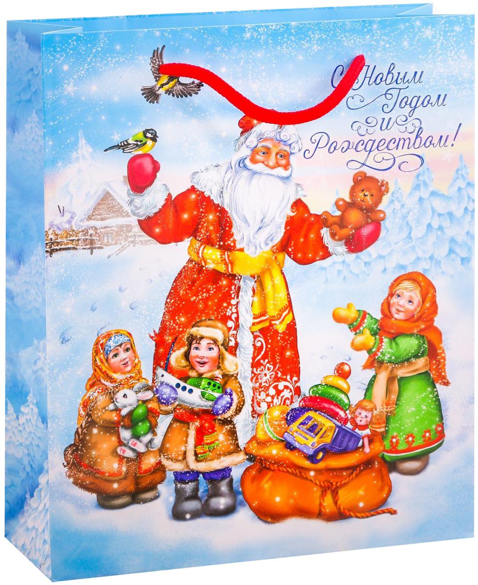 Пакет подарочный Дарите Счастье Долгожданные подарки, вертикальный, 23 х 27 х 8 см2113821Привлекательная упаковка послужит достойным украшением любого, даже самого скромного подарка. Она поможет создать интригу и продлить время предвкушения чуда - момента, когда презент окажется в руках адресата. Подарочный пакет Дарите Счастье Долгожданные подарки имеет яркий, оригинальный дизайн, который обязательно понравится получателю! Изделие выполнено из плотной бумаги, благодаря чему обеспечит надёжную защиту содержимого.Размер: 23 х 27 х 8 см.