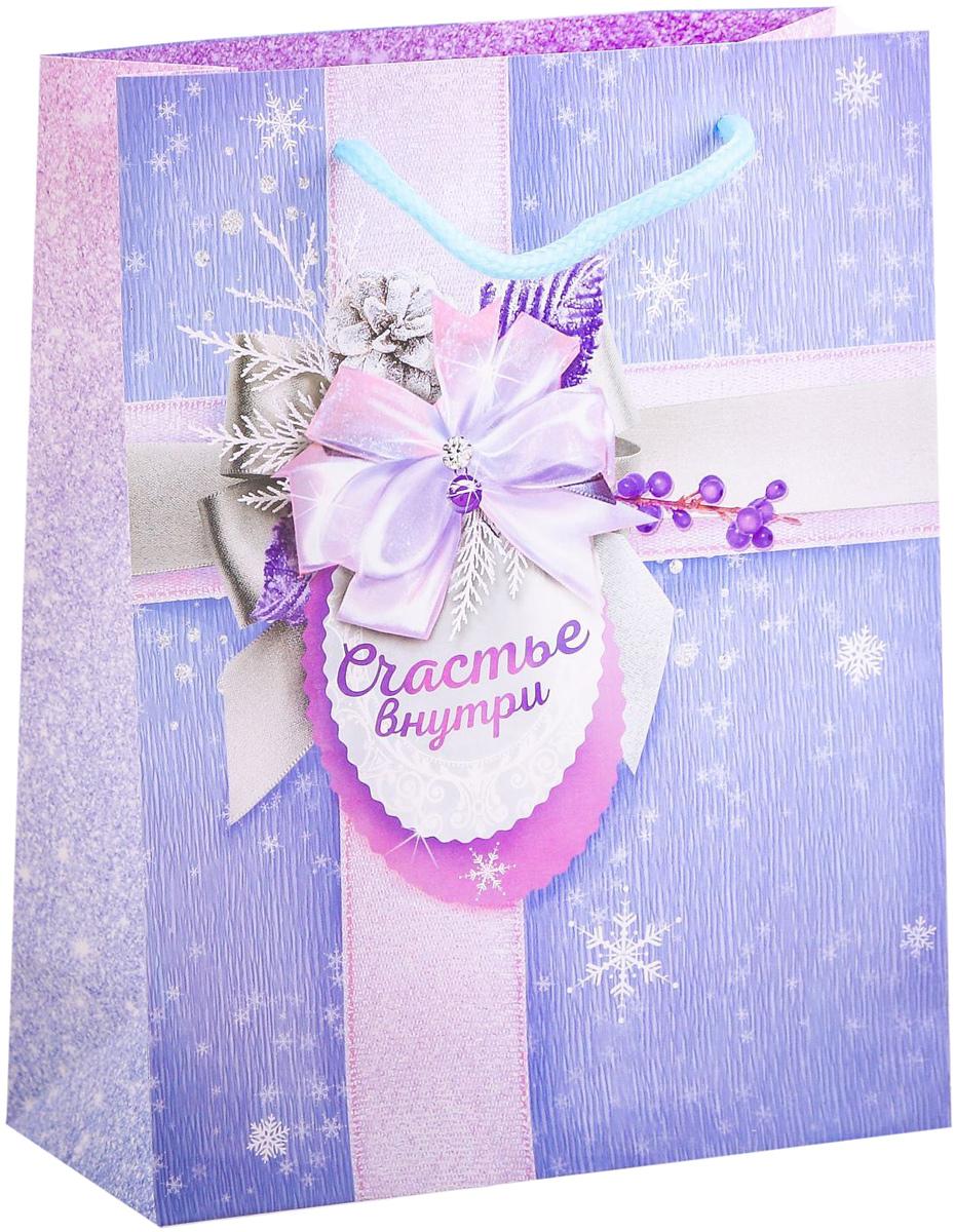 Пакет подарочный Дарите Счастье Счастье внутри, вертикальный, 18 х 23 х 8 см2113838Привлекательная упаковка послужит достойным украшением любого, даже самого скромного подарка. Она поможет создать интригу и продлить время предвкушения чуда - момента, когда презент окажется в руках адресата. Подарочный пакет Дарите Счастье Счастье внутри имеет яркий, оригинальный дизайн, который обязательно понравится получателю! Изделие выполнено из плотной бумаги, благодаря чему обеспечит надёжную защиту содержимого.Размер: 18 х 23 х 8 см.