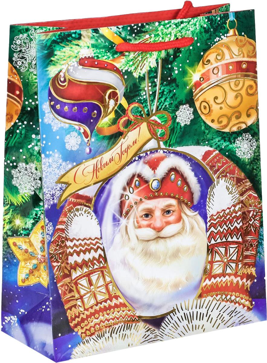 Пакет подарочный Дарите Счастье Дед Мороз, вертикальный с тиснением, 18 х 23 х 8 см2113886Привлекательная упаковка послужит достойным украшением любого, даже самого скромного подарка. Она поможет создать интригу и продлить время предвкушения чуда - момента, когда презент окажется в руках адресата. Подарочный пакет Дарите Счастье Дед Мороз имеет яркий, оригинальный дизайн, который обязательно понравится получателю! Изделие выполнено из плотной бумаги, благодаря чему обеспечит надёжную защиту содержимого.Размер: 18 х 23 х 8 см.