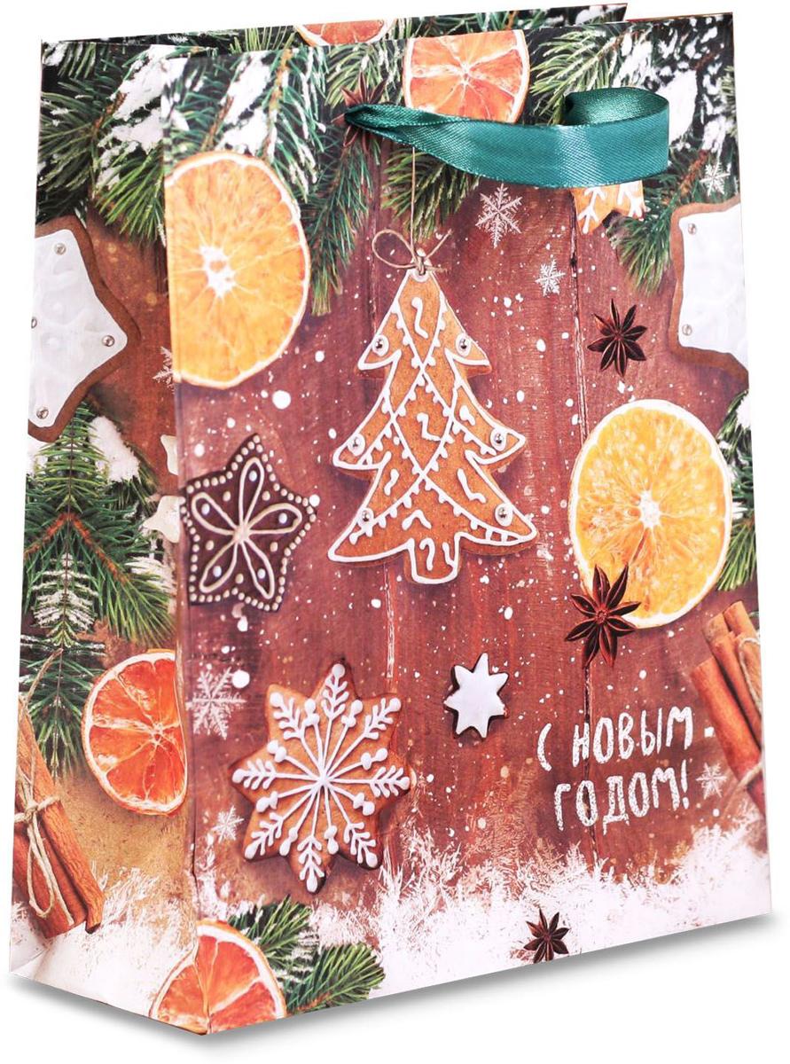 Пакет подарочный Дарите Счастье Ароматы зимнего вечера, вертикальный крафт, 23 х 27 х 8 см бюстгальтеры mioocchi бюстгальтер