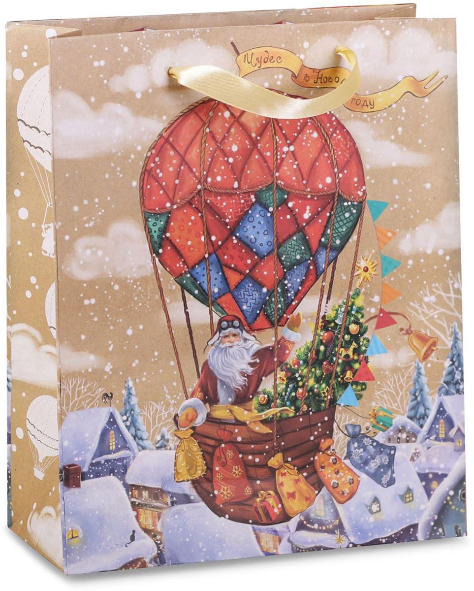 Пакет подарочный Дарите Счастье Чудес в Новом году!, вертикальный крафт, 18 х 23 х 8 см2122Привлекательная упаковка послужит достойным украшением любого, даже самого скромного подарка. Она поможет создать интригу и продлить время предвкушения чуда - момента, когда презент окажется в руках адресата. Подарочный пакет Дарите Счастье Чудес в Новом году! имеет яркий, оригинальный дизайн, который обязательно понравится получателю! Изделие выполнено из крафтовой бумаги, благодаря чему обеспечит надёжную защиту содержимого.Размер: 18 х 23 х 8 см.