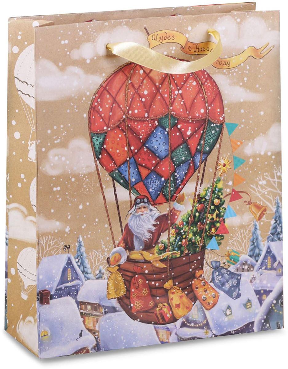 Пакет подарочный Дарите Счастье Чудес в Новом году!, вертикальный крафт, 23 х 27 х 8 см2123Привлекательная упаковка послужит достойным украшением любого, даже самого скромного подарка. Она поможет создать интригу и продлить время предвкушения чуда - момента, когда презент окажется в руках адресата.Подарочный пакет Дарите Счастье Чудес в Новом году! имеет яркий, оригинальный дизайн, который обязательно понравится получателю! Изделие выполнено из крафтовой бумаги, благодаря чему обеспечит надёжную защиту содержимого. Размер: 23 х 27 х 8 см.
