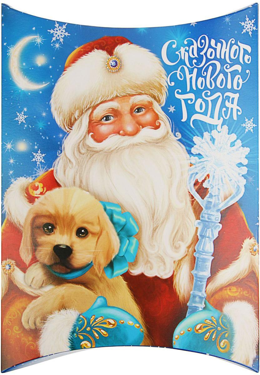 Коробка сборная фигурная Sima-land Дед Мороз с собачкой, 19 х 14 см2427868Любой подарок начинается с упаковки. Что может быть трогательнее и волшебнее, чем ритуал разворачивания полученного презента. И именно оригинальная, со вкусом выбранная упаковка выделит ваш подарок из массы других. Она продемонстрирует самые теплые чувства к виновнику торжества и создаст сказочную атмосферу праздника.