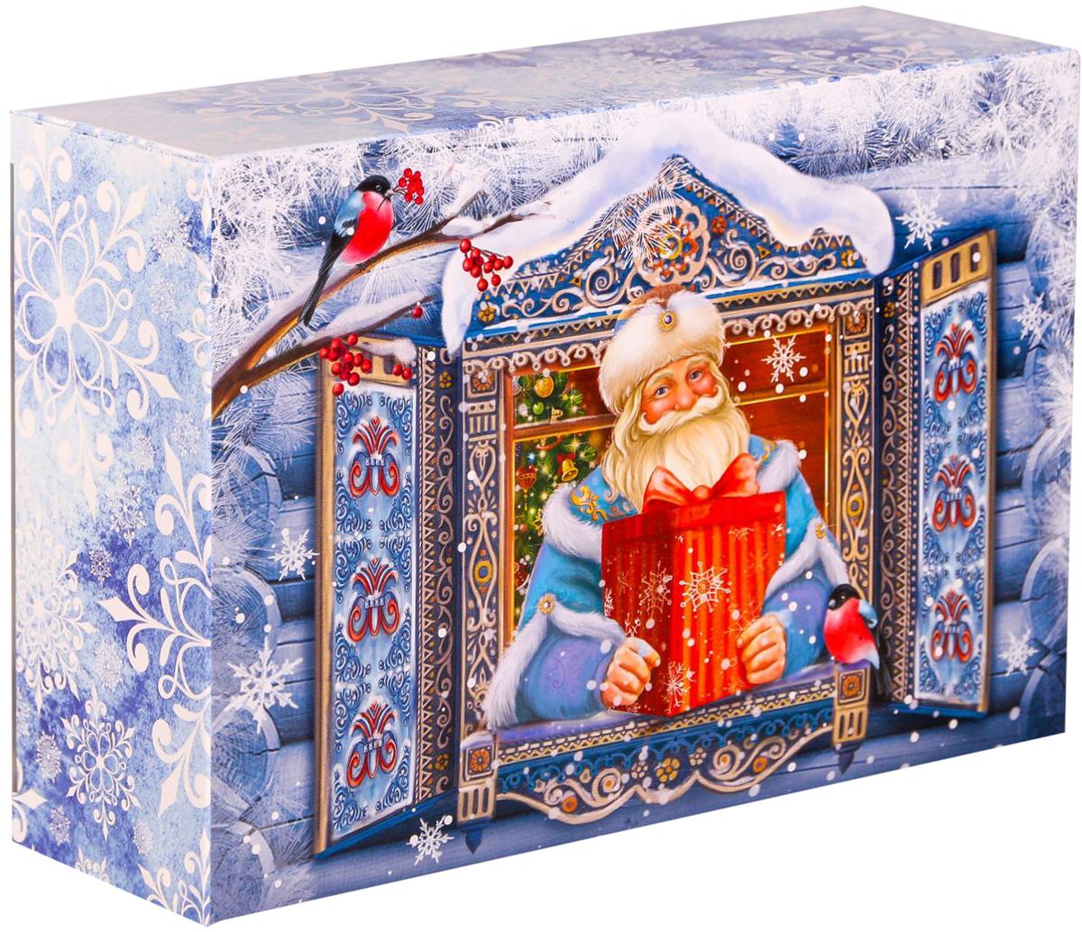 Коробка складная Дарите счастье Окно в сказку, цвет: голубой, белый, 16 х 23 х 7,5 см2149171Любой подарок начинается с упаковки. Что может быть трогательнее и волшебнее, чем ритуал разворачивания полученного презента. И именно оригинальная, со вкусом выбранная упаковка выделит ваш подарок из массы других. Складная коробка Дарите счастье Окно в сказку продемонстрирует самые теплые чувства к виновнику торжества и создаст сказочную атмосферу праздника. Размер: 16 х 23 х 7,5 см.