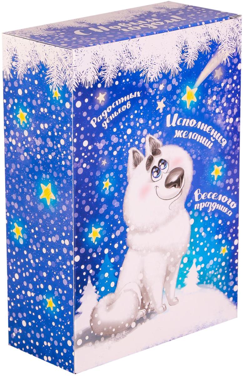 Коробка складная Дарите счастье Звездное небо, цвет: синий, белый, 16 х 23 х 7,5 см брюки котмаркот штанишки звездное небо