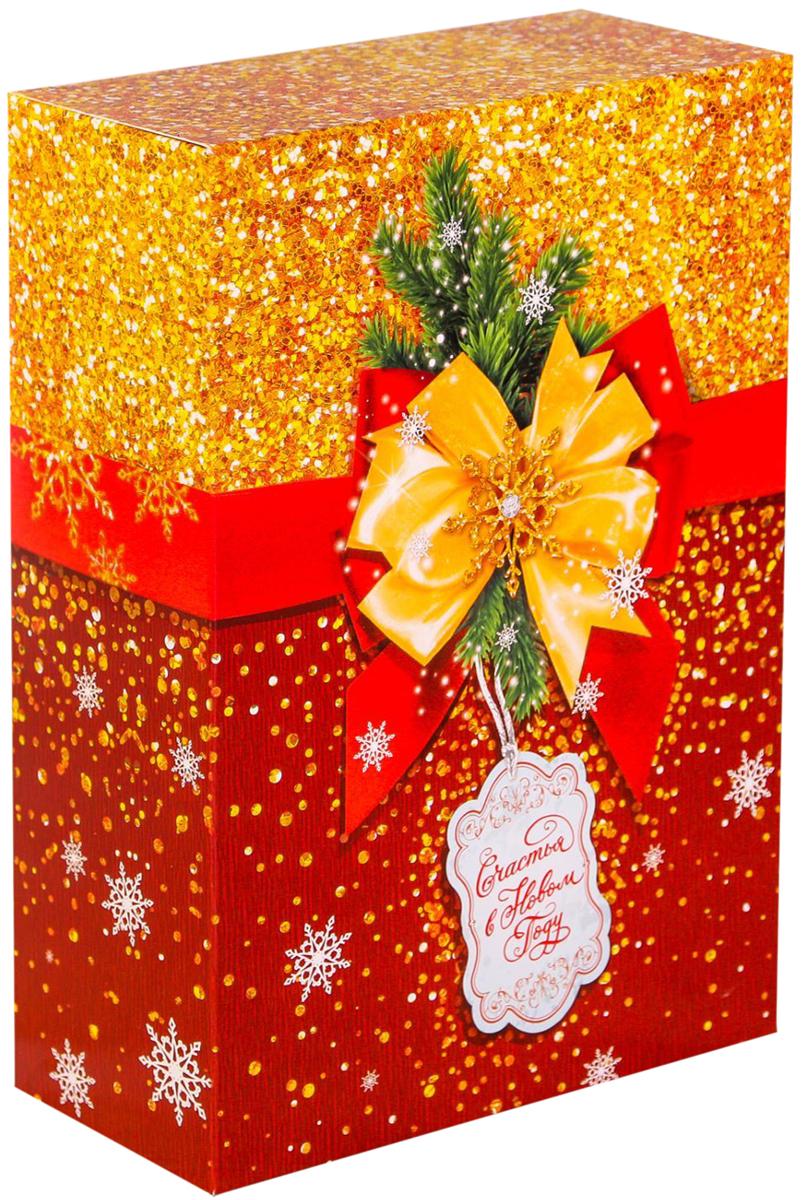 Коробка складная Дарите счастье Сверкающий Новый год, 16 х 23 х 7,5 см2450831Любой подарок начинается с упаковки. Что может быть трогательнее и волшебнее, чем ритуал разворачивания полученного презента. И именно оригинальная, со вкусом выбранная упаковка выделит ваш подарок из массы других. Она продемонстрирует самые теплые чувства к виновнику торжества и создаст сказочную атмосферу праздника.