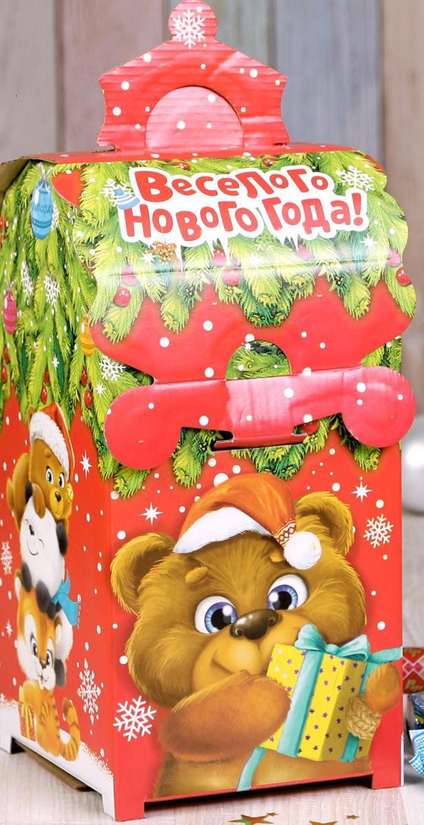Коробка складная Дарите счастье Веселые зверята, 13,5 х 13,5 х 26 см2482941Любой подарок начинается с упаковки. Что может быть трогательнее и волшебнее, чем ритуал разворачивания полученного презента. И именно оригинальная, со вкусом выбранная упаковка выделит ваш подарок из массы других. Она продемонстрирует самые теплые чувства к виновнику торжества и создаст сказочную атмосферу праздника.