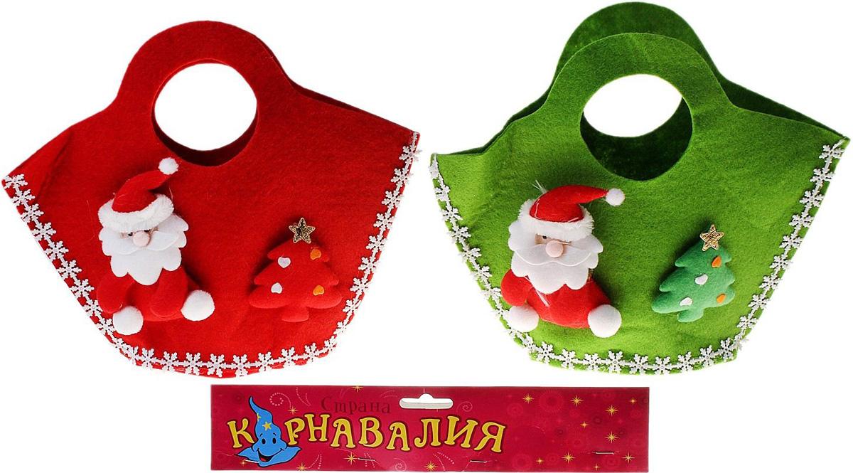 Сумка подарочная Страна Карнавалия Дед Мороз с елочкой, цвет: красный, 26 х 8 х 23 см1529951Подарочная сумка Страна Карнавалия Дед Мороз с елочкой с тематической аппликацией станет эффектным оформлением вашего гостинца в новогоднюю ночь. В нее можно положить что угодно: конфеты, игрушки, любые приятные мелочи. Она сделает ваш презент особенным и сама будет запоминающимся подарком. А для маленьких принцесс превратится в стильный аксессуар, в котором они смогут хранить свои маленькие сокровища. Размер: 26 х 8 х 23 см.
