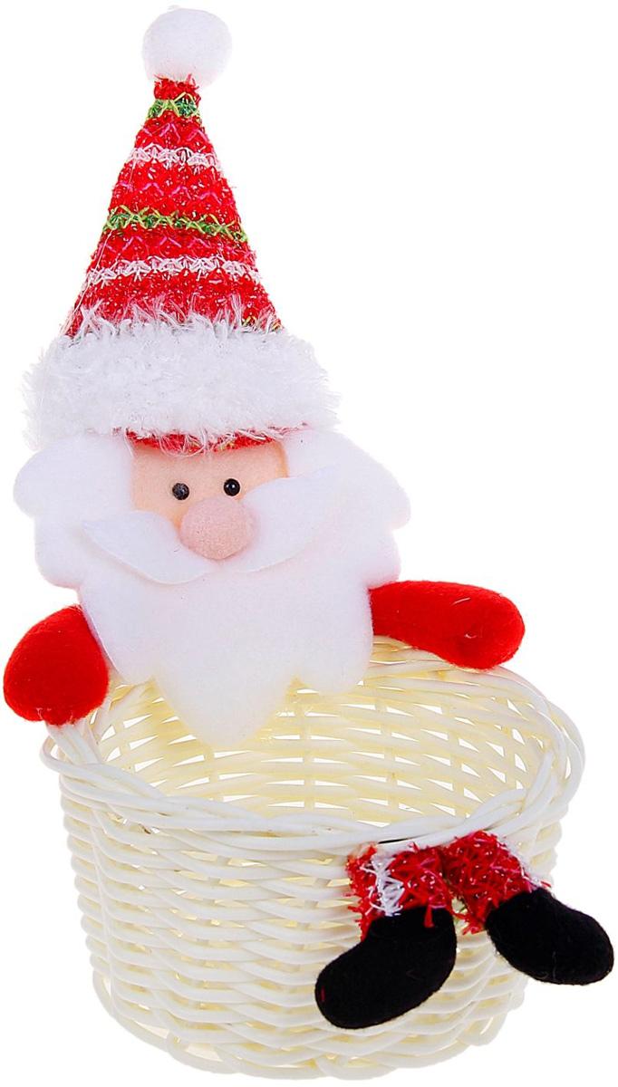 Упаковка подарочная Страна Карнавалия Конфетница. Санта, цвет: белый, красный511930Подарочная упаковка Страна Карнавалия Конфетница. Санта- это волшебная корзинка, которая превратит обычные сладости в самый запоминающийся подарок. Наполните ее различными лакомствами и поставьте под елку. Нарядная конфетница непременно привлечет к себе внимание, а яркий символичный персонаж создаст новогоднее настроение. Когда праздники закончатся, в такой емкости будет удобно хранить различные мелочи или наполнять конфетами и угощать гостей!Размер: 16 х 21 см.