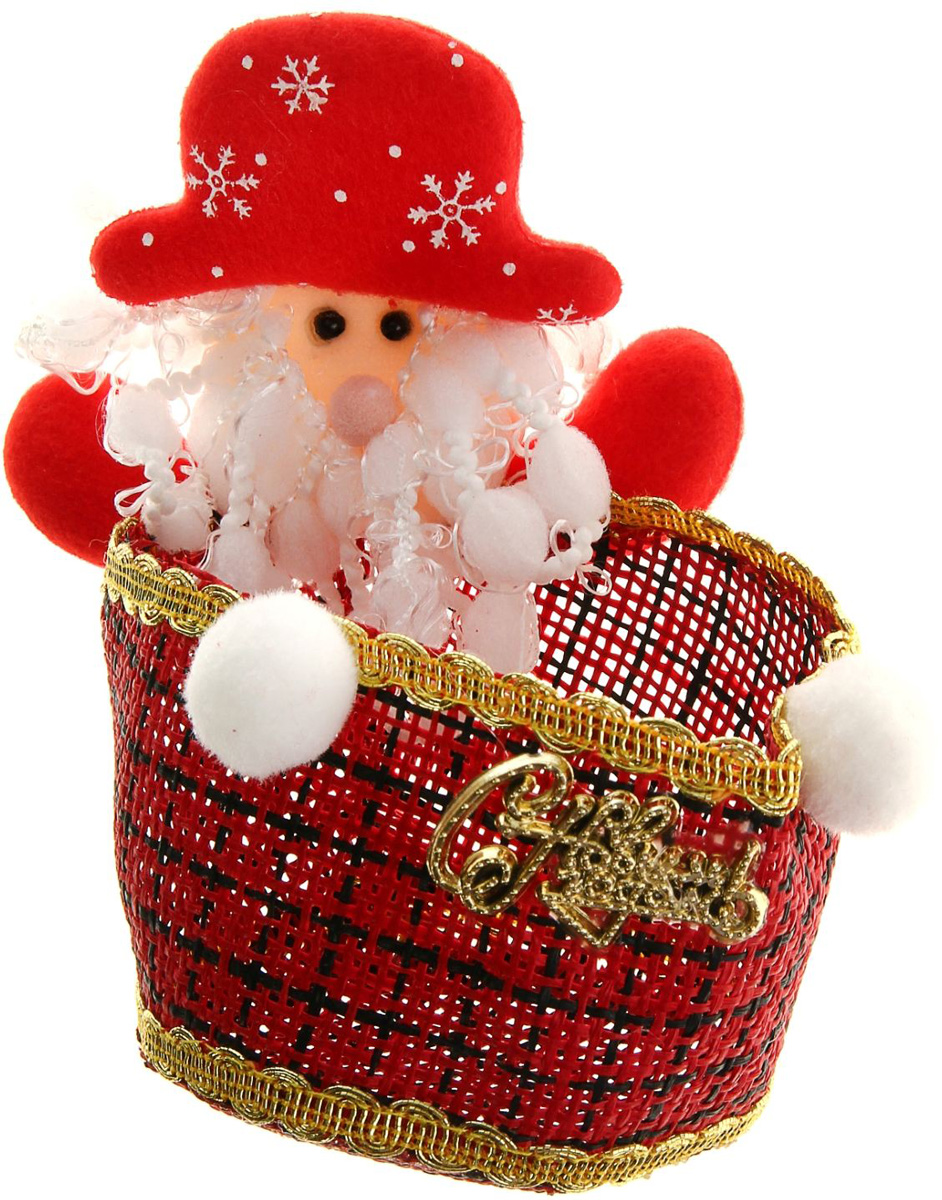 Упаковка подарочная Страна Карнавалия Конфетница. Дедушка Мороз, цвет: красный, белый511932Подарочная упаковка Страна Карнавалия Конфетница. Дедушка Мороз- это волшебная корзинка, которая превратит обычные сладости в самый запоминающийся подарок. Наполните ее различными лакомствами и поставьте под елку. Нарядная конфетница непременно привлечёт к себе внимание, а яркий символичный персонаж создаст новогоднее настроение. Когда праздники закончатся, в такой емкости будет удобно хранить различные мелочи или наполнять конфетами и угощать гостей! Размер: 10 х 17 см.