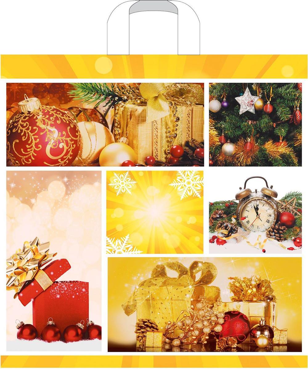 Пакет подарочный Артпласт Новогодний коллаж, 45 x 45 см, 70 мкм. 8957161308839Подарочный пакет, изготовленный из ПВД, станет незаменимым дополнением квыбранному подарку. Дно изделия укреплено плотным картоном, который позволяет сохранить форму пакета и исключает возможностьдеформации дна под тяжестью подарка.
